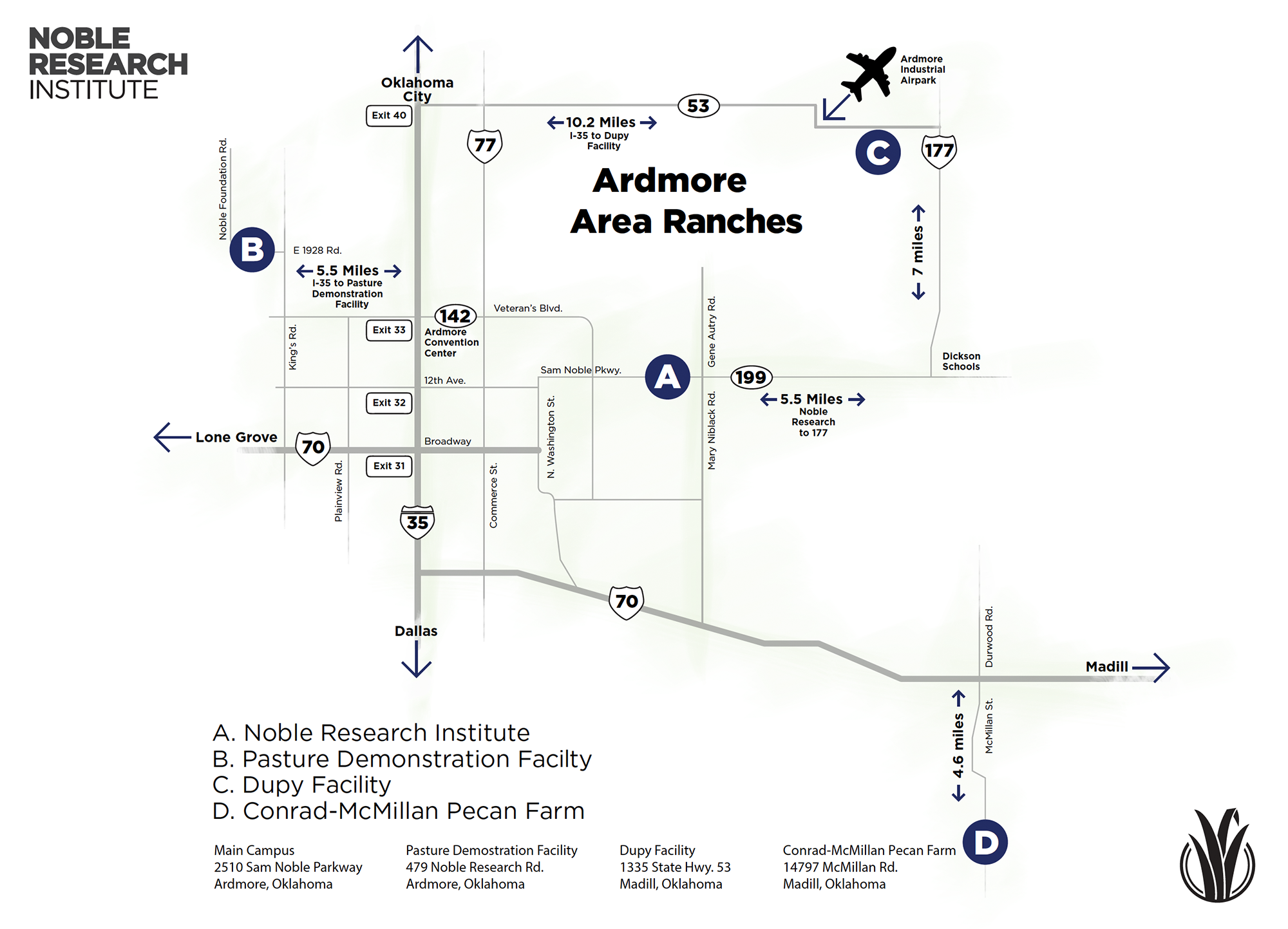 Ardmore Area Farms Map