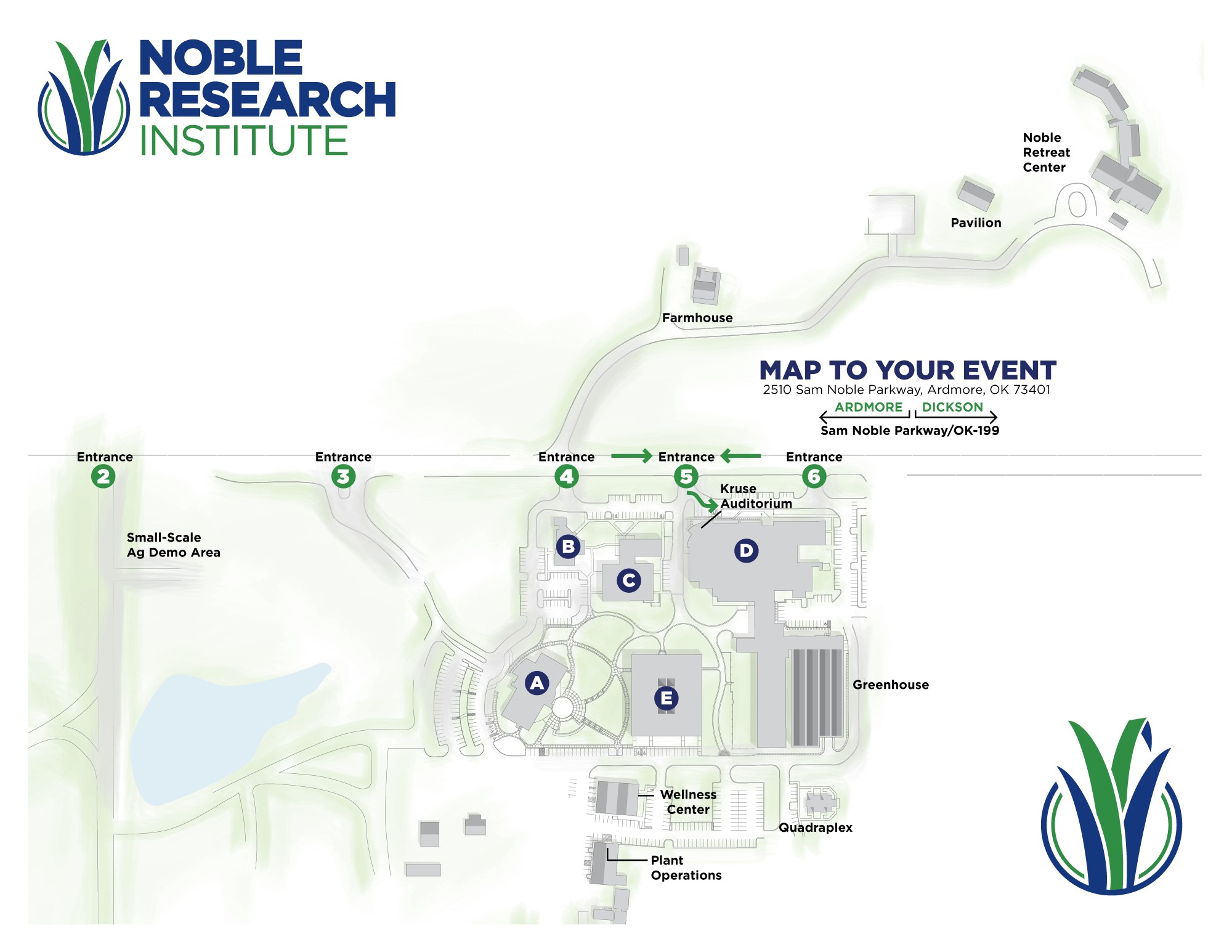 Kruse Auditorium Map