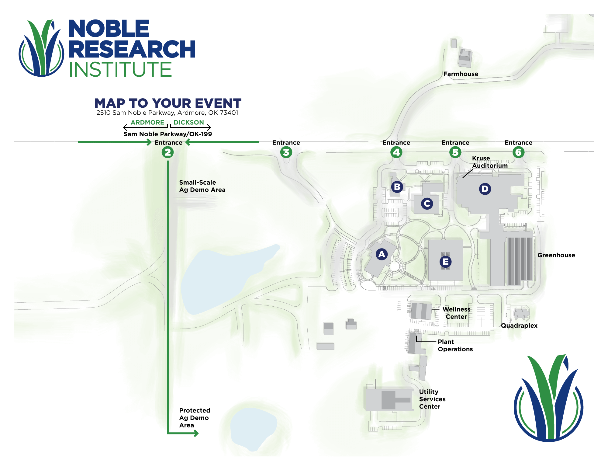 Protected Ag Demo Area Map