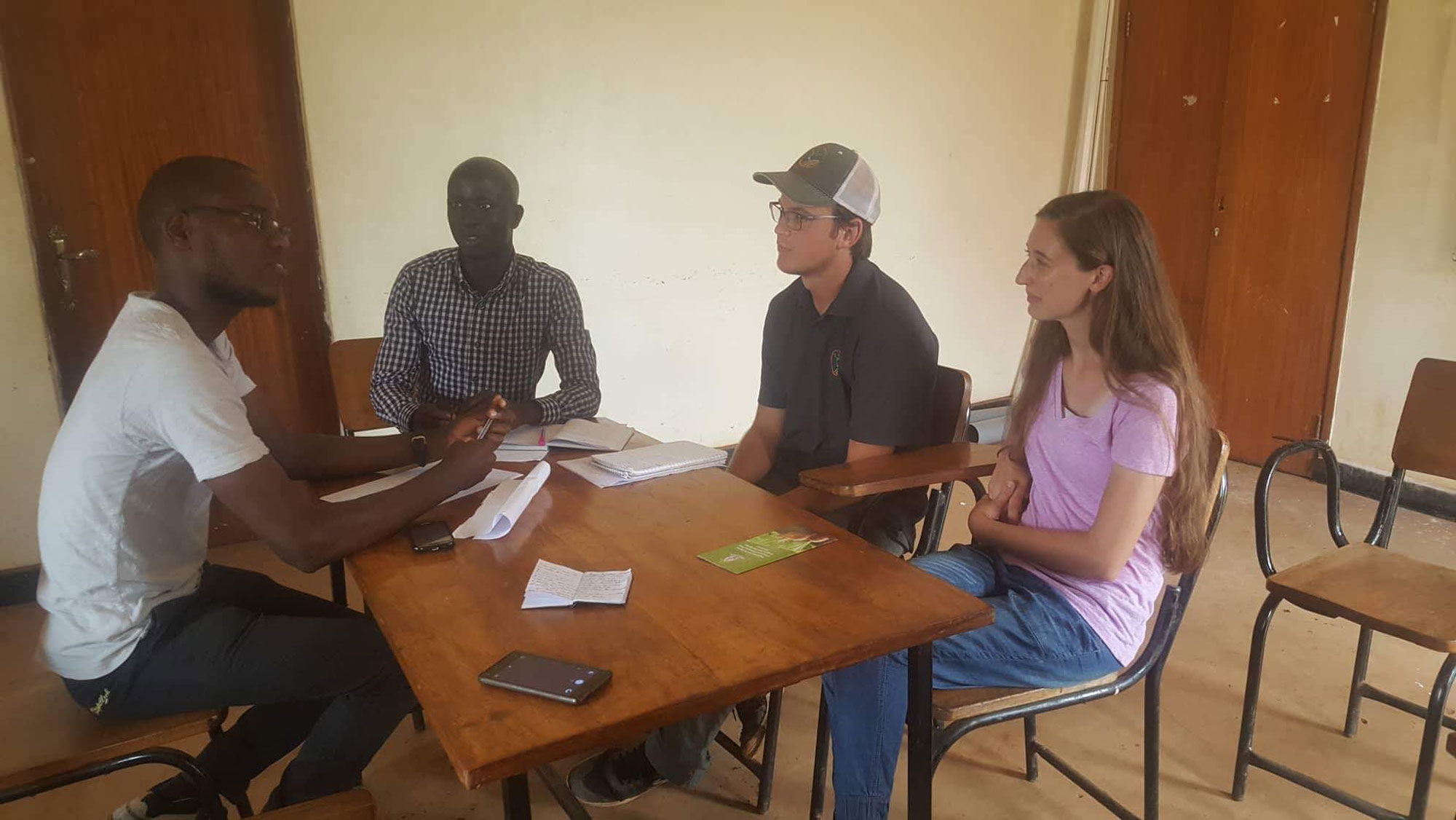 Nicholas, Disika, Ryan, and Catherine discuss the project
