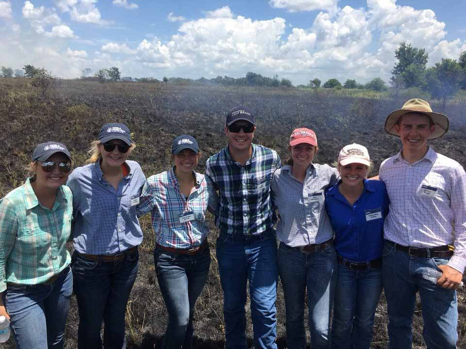2017 Lloyd Noble Scholars in Agriculture prescribed burning