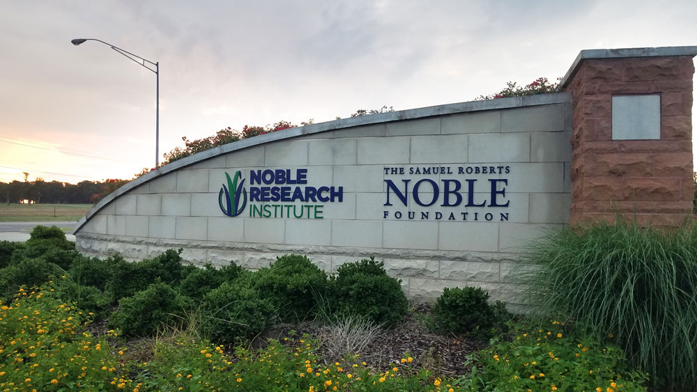 Noble Research Institute sign