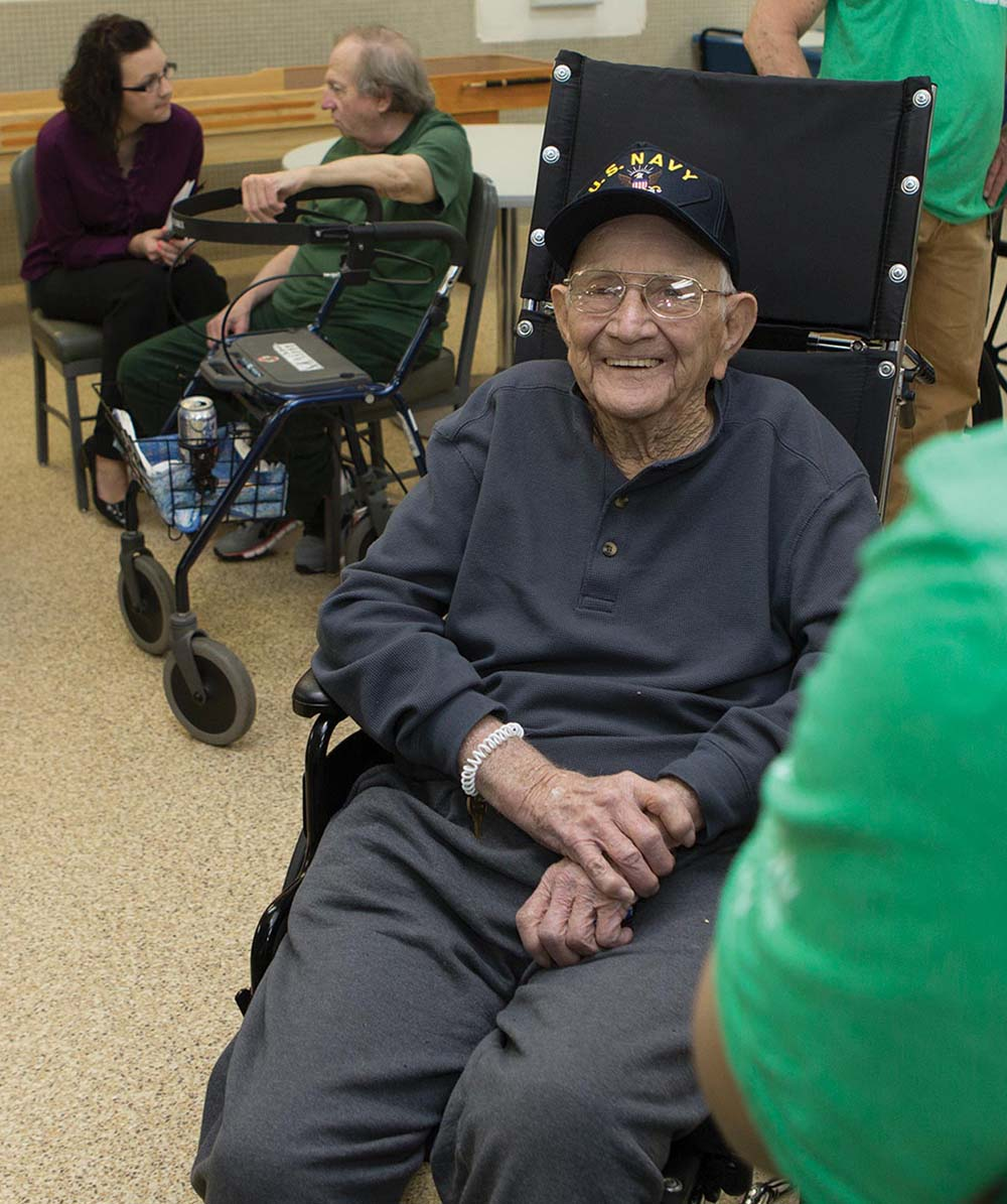 A Veterans Center resident