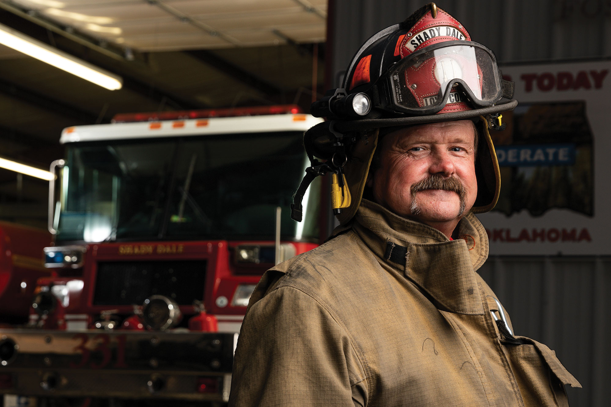 Tim Boatright, an agricultural equipment mechanic at the Noble Research Institute, serves as the captain of the Shady Dale Volunteer Fire Department in Love County, Oklahoma.