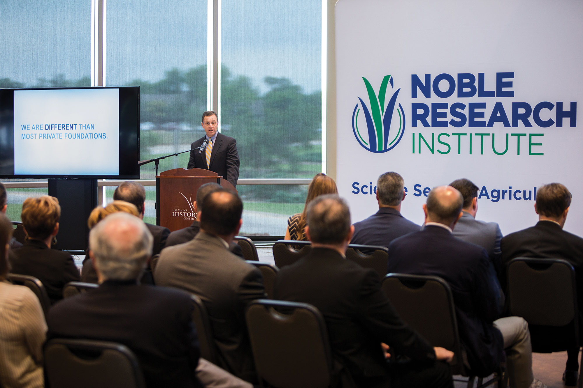 Steve Rhines explains how a public charity more closely aligns with the operations of the Noble Research Institute.