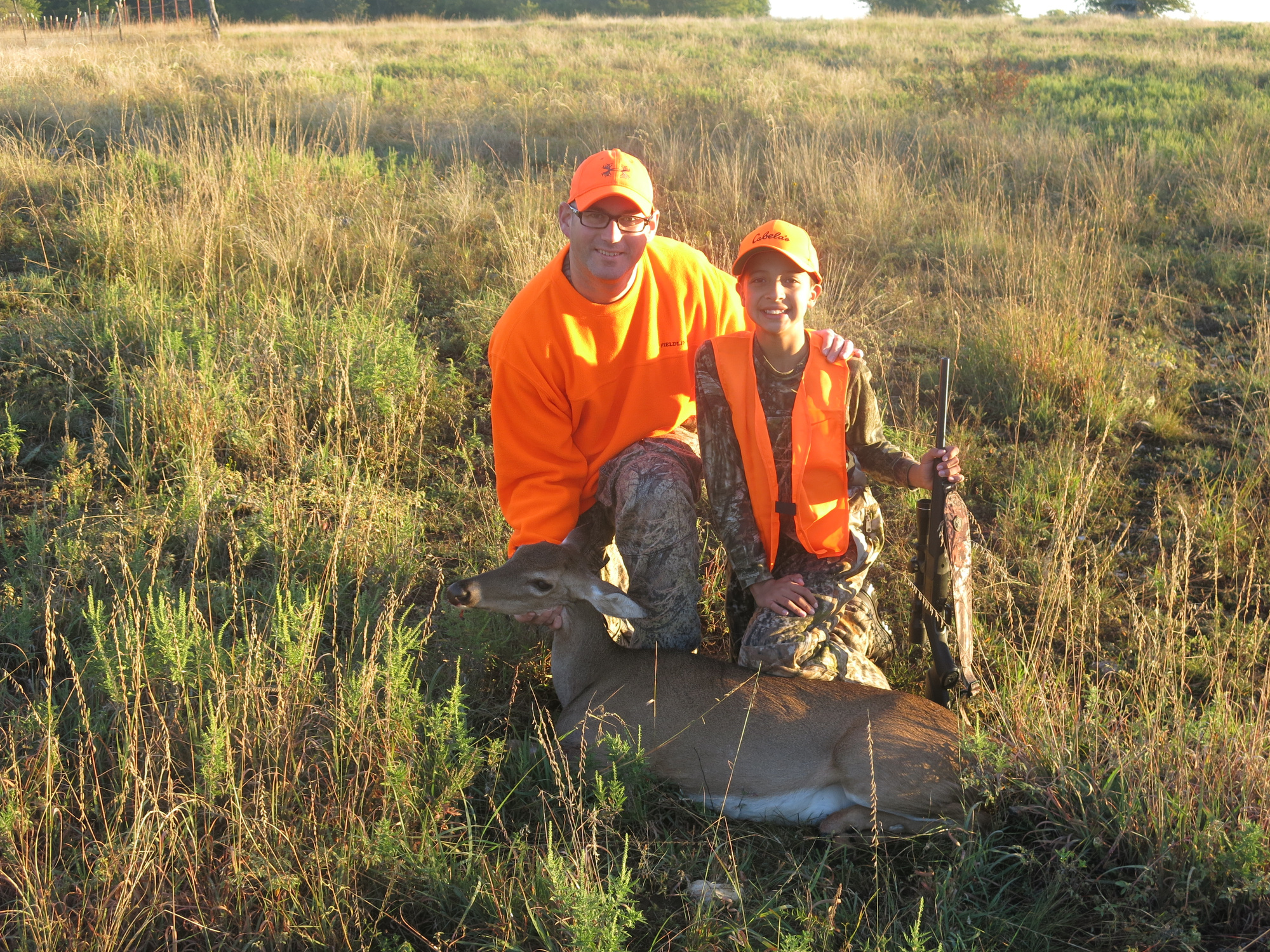 Jackson Adams, 2014 Youth Hunter, shown with his first deer.
