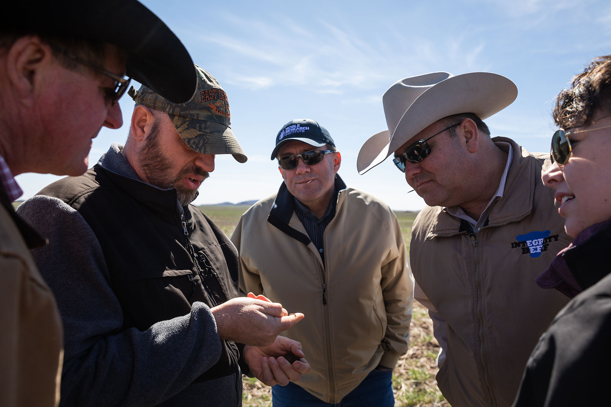 Consultants and producers look at the soil