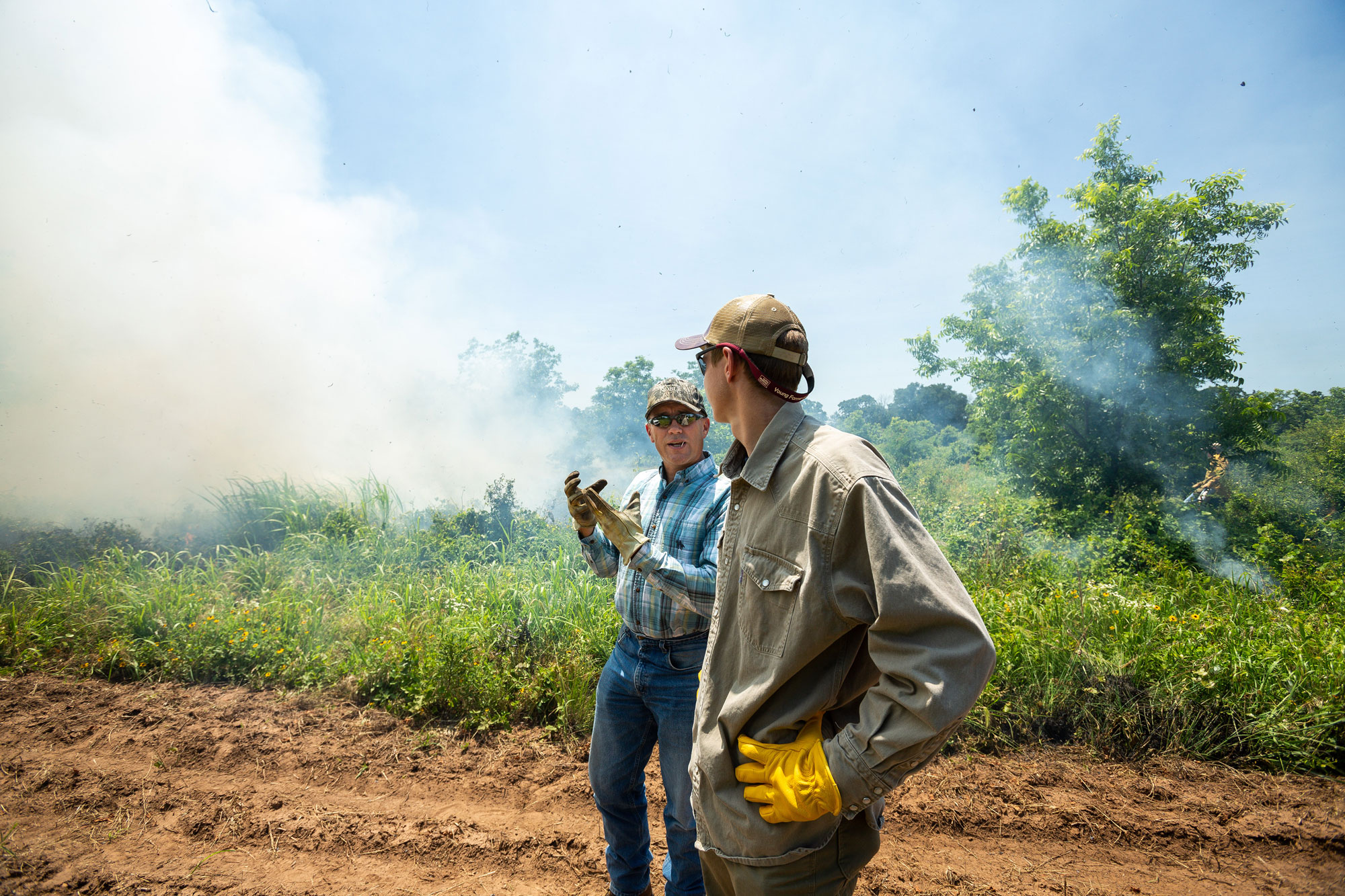 Russell Stevens at a Prescribed FIre event